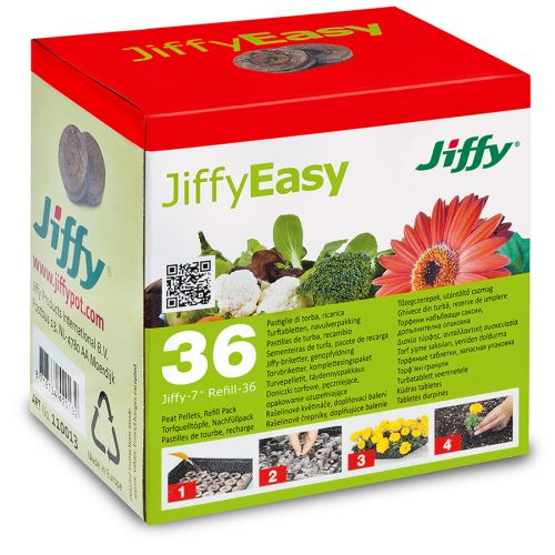 Jiffy-7 Refill turvepelletit 36mm 36kpl/pkt
