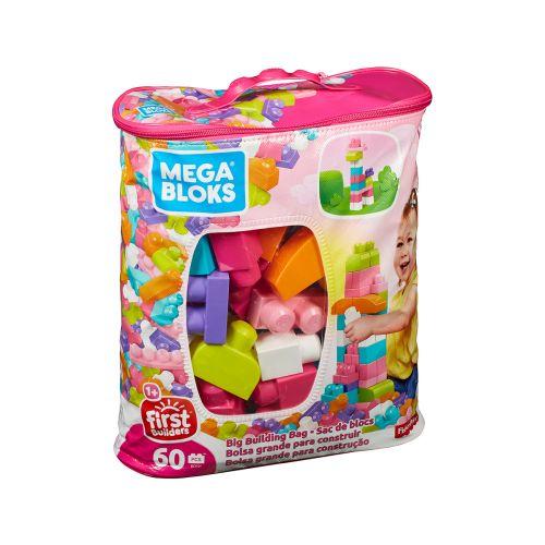 Mega Bloks Big Building Bag puuhapalikat 60 kpl pinkki