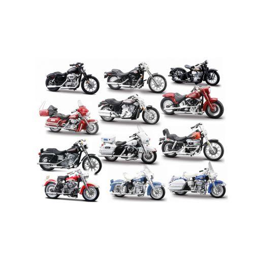 Maisto 1:24 Harleys moottoripyörät laj.