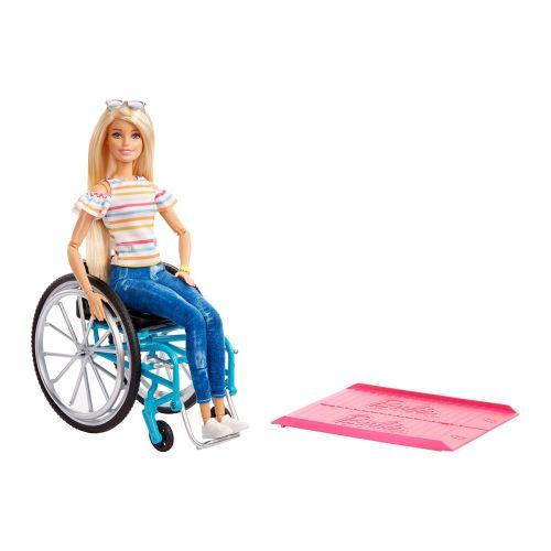 Barbie pyörätuoli ja nukke