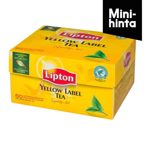 Lipton Yellow Label 50 teepussia, 100g