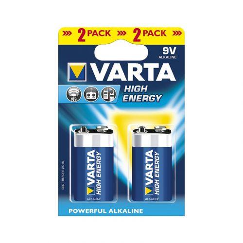 Varta paristo alkali High Energy 9V, 2kpl