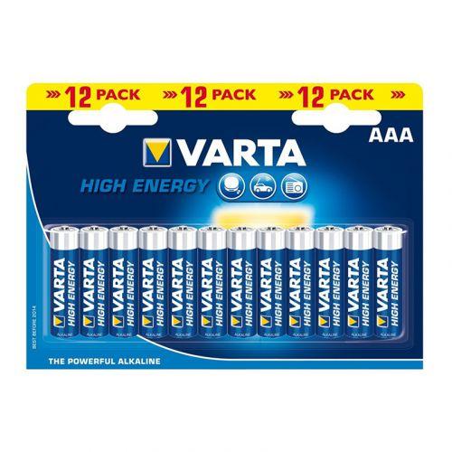 Varta paristo alkali High Energy AAA, 12kpl