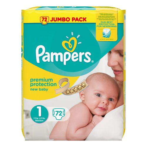 PAMPERS NEW BABY VAIPPA S1 2-5 KG 72KPL