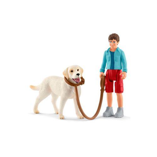Schleich Kävelyretki labradorinnoutajan kanssa