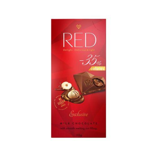 Red maitosuklaa pähkinätäytteellä 110g, sokeriton