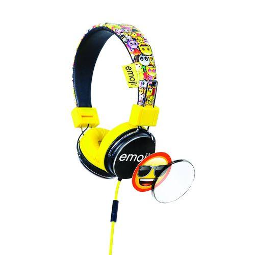 Lazerbuilt Emoji kuulokkeet, keltainen
