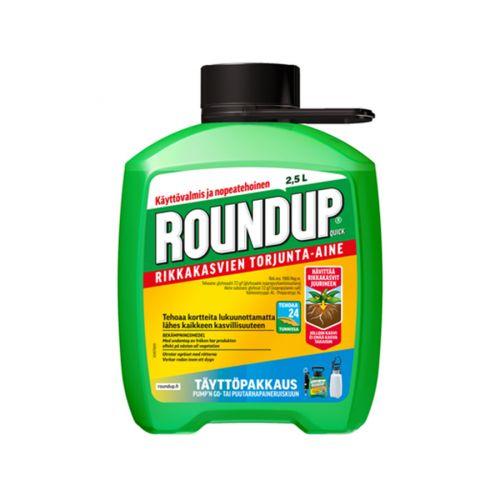Roundup Quick Refil rikkahävite 2,5 L, täyttöpakkaus