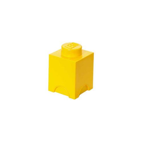 LEGO SÄILYTYSLAATIKKO 1 KELTAINEN 12,5X12,5X18CM