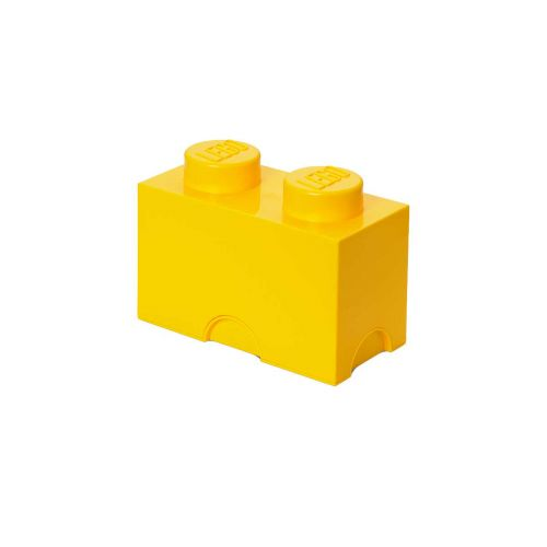 LEGO SÄILYTYSLAATIKKO 2 KELTAINEN 25X12,5X18CM
