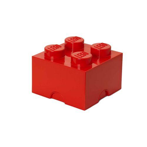 LEGO SÄILYTYSLAATIKKO 4 PUNAINEN 25X25X18CM