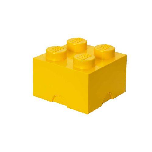 LEGO SÄILYTYSLAATIKKO 4 KELTAINEN 25X25X18CM