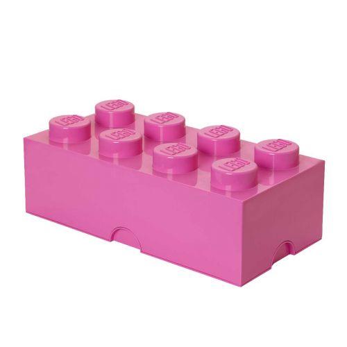 LEGO SÄILYTYSLAATIKKO 8 PINKKI 50X25X18CM