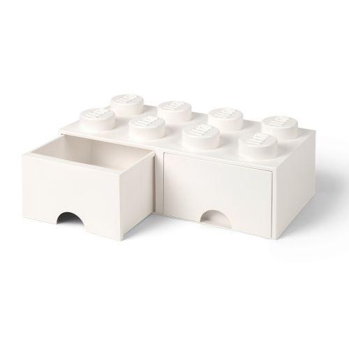 LEGO SÄILYTYSVETOLAATIKKO 8 VALKOINEN 50X25X18CM