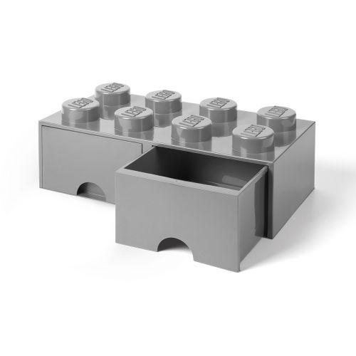 LEGO SÄILYTYSVETOLAATIKKO 8 HARMAA 50X25X18CM
