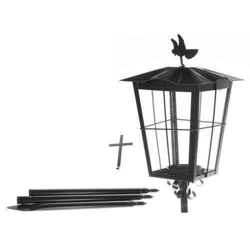 Hautalyhty lintu+risti musta varrella