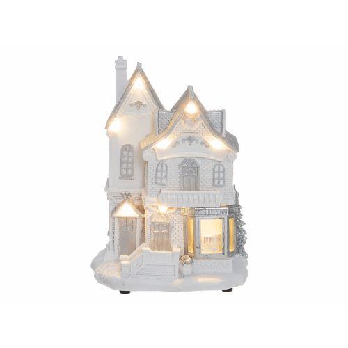 Winterseason Joulutalo led valolla valkoinen
