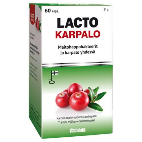 LACTO KARPALO MAITOHAPPOBAKTEERI 60 KPL