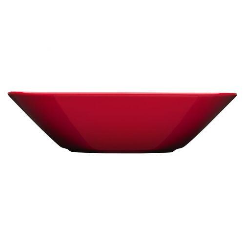 Iittala Teema lautanen syvä 21 cm punainen