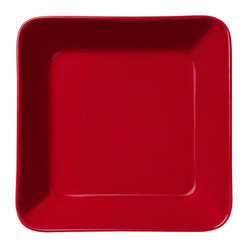 Iittala Teema lautanen 16x16cm, punainen