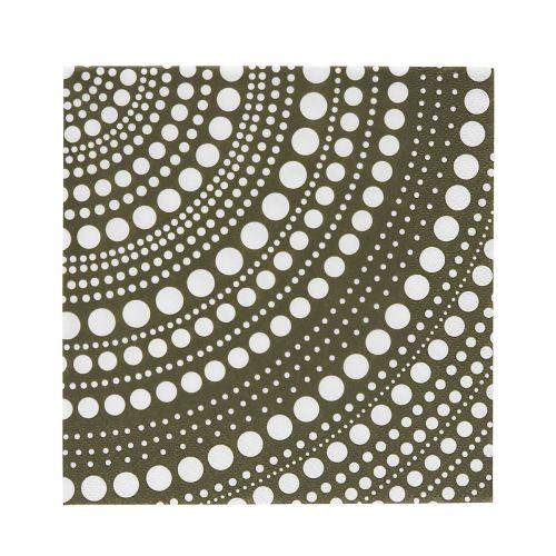 Iittala Kastehelmi paperiservetti, sammaleenvihreä