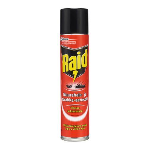 Raid muurahais- ja torakka-aerosoli 300ml