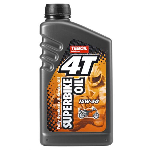 Teboil 4-T Superbike Oil 15W-50 1L täyssynteettinen moottoripyöräöljy