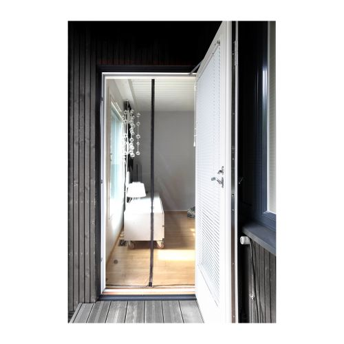 Ötökkä magneetti oviverho 93 x 220 cm, musta