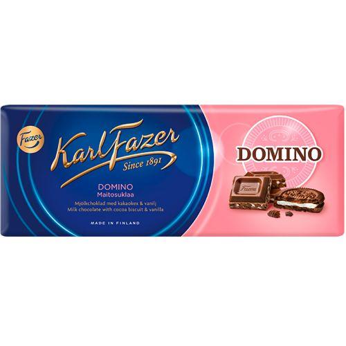Karl Fazer Domino maitosuklaalevy 195g