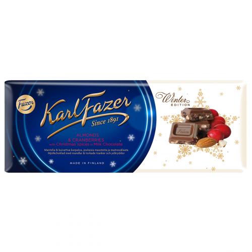 Karl Fazer Winter Edition maustettu maitosuklaa 200g
