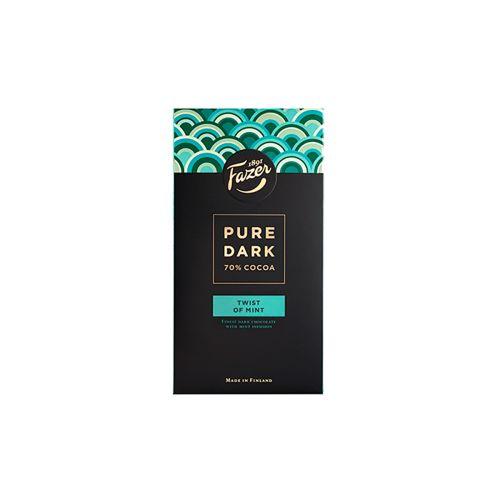Fazer Pure Dark 70% Twist of Mint tumma suklaa 95g