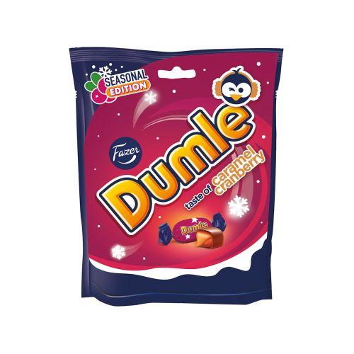 Fazer Dumle Seasonal Caramel Cranberry 220g