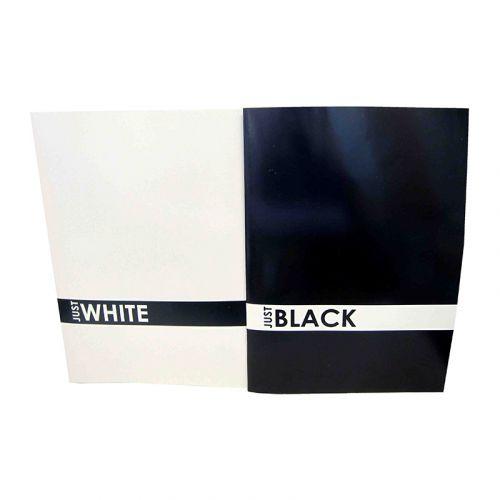 JUST BLACK & WHITE A4 NIDOTTU VIHKO, 2 ERIL. LJAJIT.