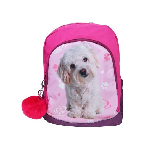 Koulureppu koira Cute + pompom avaimenperä