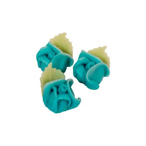 Marsipaaniruusu 3kpl, sininen