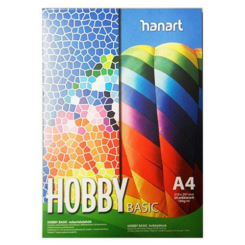 HANART HOBBY BASIC 180G A4 (5X5=25) ASKARTELUKARTONKILEHTIÖ