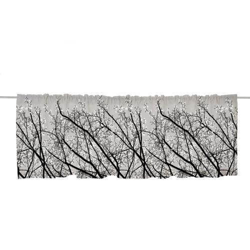 Vallila verhokappa Pihapuut 60x250cm tummanharmaa