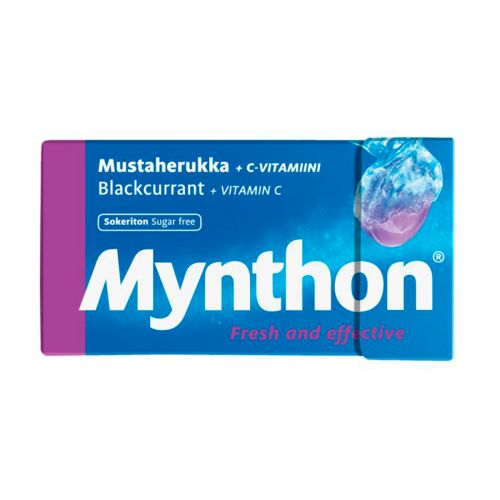 Mynthon +C Mustaherukka Sokeriton pastilli 31g