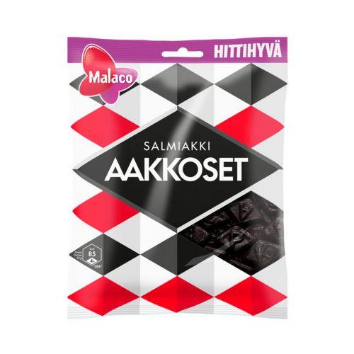 Malaco Aakkoset Salmiakki makeispussi 180g