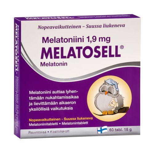 MELATOSELL MELATONIINI 1,9MG  60 KPL