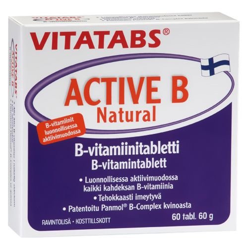 VITATABS ACTIVE B NATURAL  60 KPL