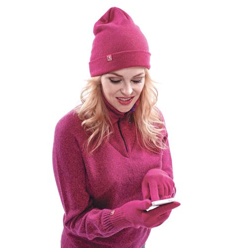 North Outdoor älysormikas merino, fuksia S-M