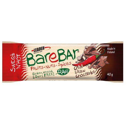 Leader Barebar Raw Chili-Cocoa Lakton Gton 40 g