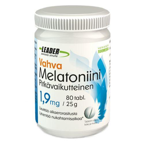 Leader Vahva Melatoniini 1,9mg 80 kpl