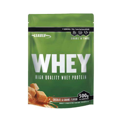 Leader Whey Protein+ Proteiinijauhe Suklaa-Karamelli 500