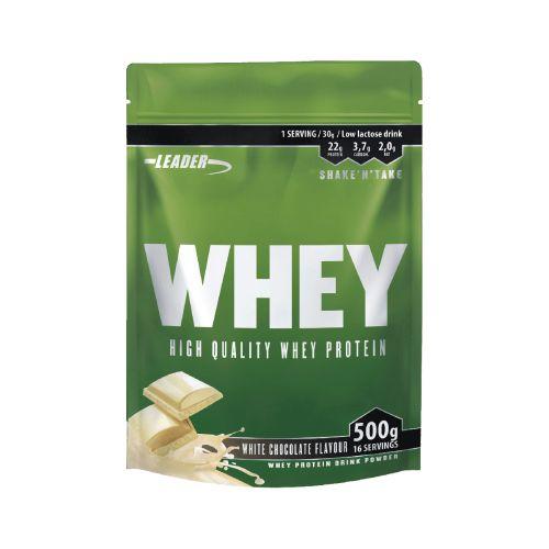 Leader Whey Protein+ Proteiinijauhe Valkosuklaa 500 g