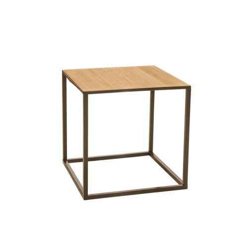 Living pöytä metalli-natural 44x44x44cm