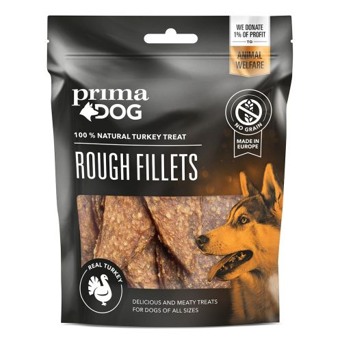 PRIMADOG ROUGH FILLETS KALKKUNAFILEE 90 G