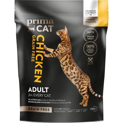 Primacat täysravinto viljaton kana aikuisille kissoille 1,4 kg