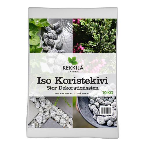 KEKKILÄ ISO KORISTEKIVI HARMAA GRANIITTI 10KG 10 KG